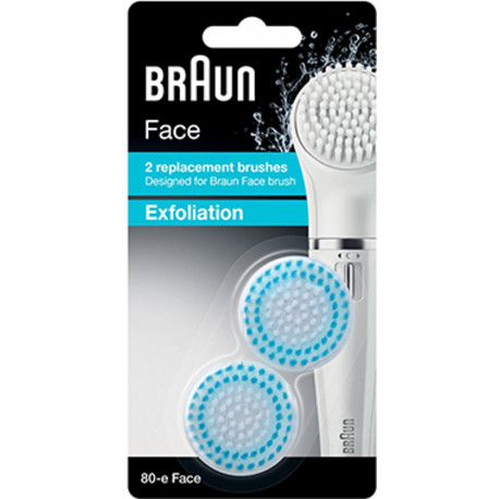 BRAUN Face Replacement Exfoliation Brushes 2 pcs 80-e