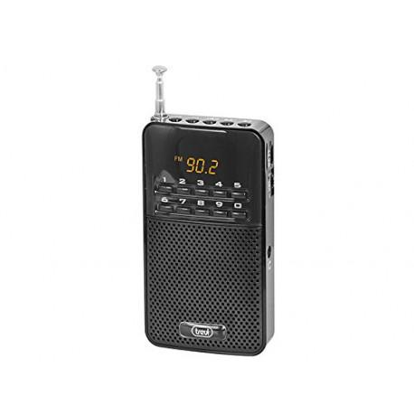 TREVI DR 730 draagbare FM-radio zwart DR-730-BLACK1