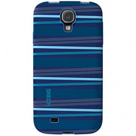 Skech Groove Protective Shock Absorbent Case Cover for Samsung Galaxy S4 Blue SKGS4-GV-BLU