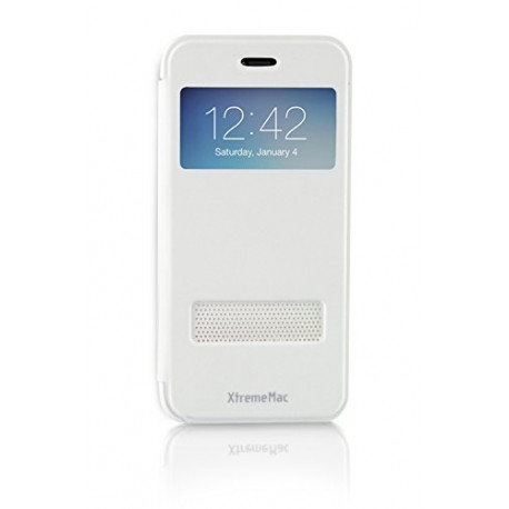 XtremeMac S-View Window Flip pu Leather Case Cover for Apple iPhone 6 White IPP-WB6-03