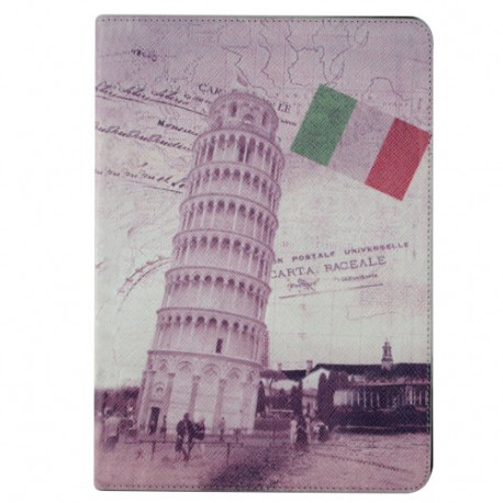 APEXEL Italy Leaning Tower Retro Stamp Overpass Pattern pu Leather Protective Case for iPad Air 5 1P5-16-2