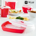 TapItTap Cook or Wave Pro - The Innovative Steam Kitchen System in the Microwave - Set of 11 Pieces