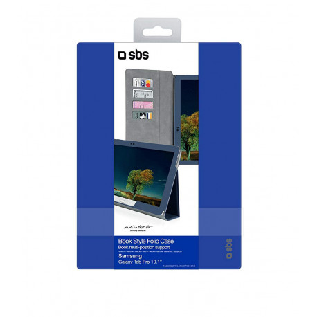 SBS Bookstyle Case with Stand Function and 4 Card Holder for Samsung Galaxy Tab Pro 10.1 Blue TABOOKSTYLETABPRO101B