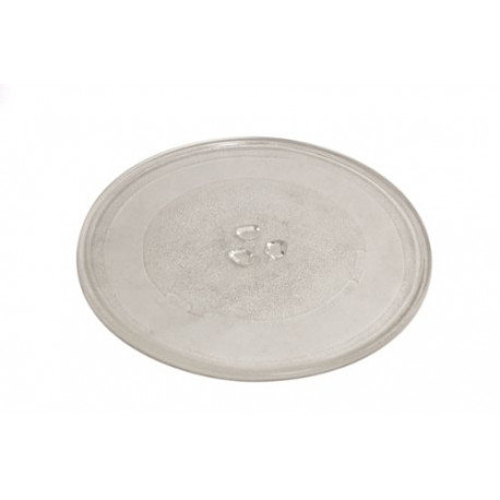 EUROPART 255 mm Universal Microwave Turntable Glass Plate with 3 Fixtures 75-UN-04