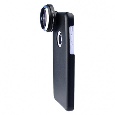 APEXEL 235 Degree Super Fisheye/Fish Eye Lens with Back Cover Case for iPhone 5C CL-36-5C
