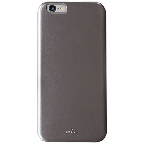 PURO Vegan pu Leather Case for iPhone 6 Grey IPC647VEGANGREY