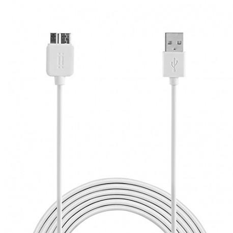 aiino 1.6 M Samsung Micro USB 3.0 to USB Cable White AICSMCRUSB3-WH