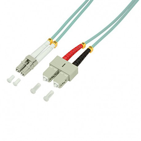 Logilink LC-SC OM3 50/125µ Fiber Patch Cable 10 Meter Length 10 Meter Length FP3LS10