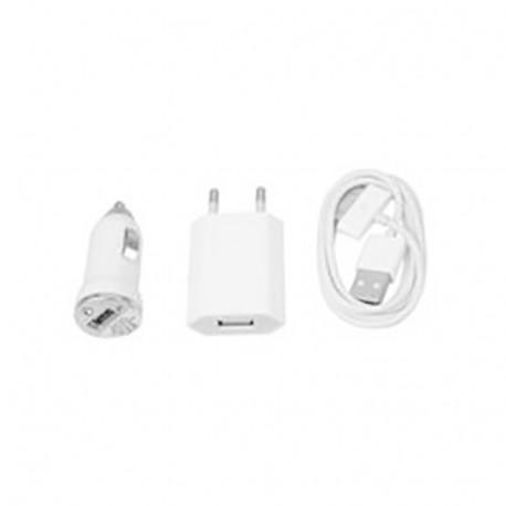 Micro Mobile Charger set iPad iPhone iPod white MSPP1860
