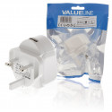 Valueline 2,4A USB charger with uk plug and smart IC VLMP11955WUK
