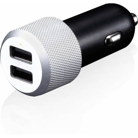 Just Mobile Highway Max twin slot in-car charger CC-178