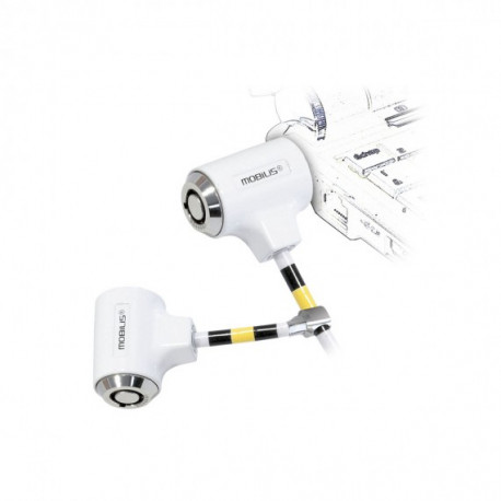 MOBILIS Cable twin corporate key white 1223