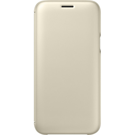 SAMSUNG Original Wallet Cover for Galaxy J5 (2017) Gold