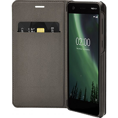 NOKIA Slim Flip Case black for Nokia 2 from 2017 (Not for Nokia 2.1 2018) CP-304
