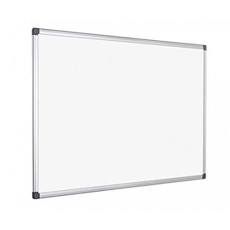 Bi-Office 1200x900mm Maya Magnetic Dry Wipe Board Clip-On Pen Tray White MA0507170