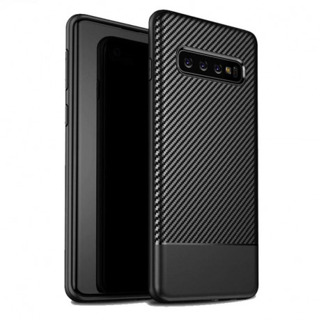 DLH phone case Black Silicone Shell Galaxy S10+ DY-PS4070