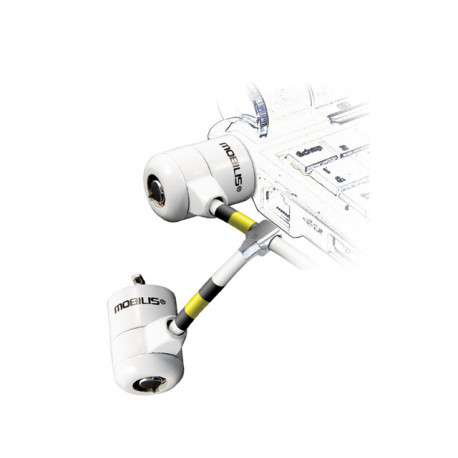 MOBILIS Cable twin corporate key white 001223