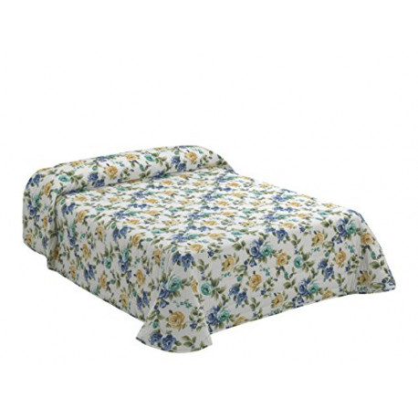 Viantala Sylvia 104 Quilt boutí Bed 180 Cotton Blue and White BT1030