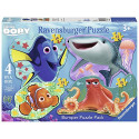 RAVENSBURGER Disney Finding Dory 4 Shaped Jigsaw Puzzles (10,12,14,16PC) 6858