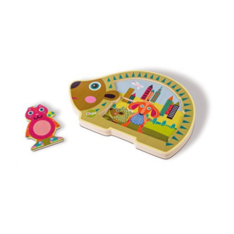 Oops 16008.20 Wooden Toys Collection City Easy-Puzzle Multi-Color OOPS_16008.20