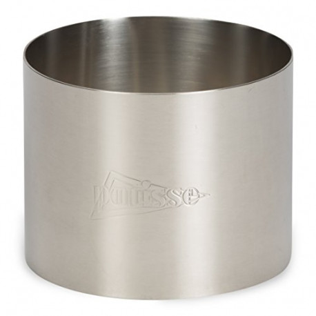 Patisse Rings Stainless Steel and Baking Parchment 5,5X5CM Colour: Silver 72092