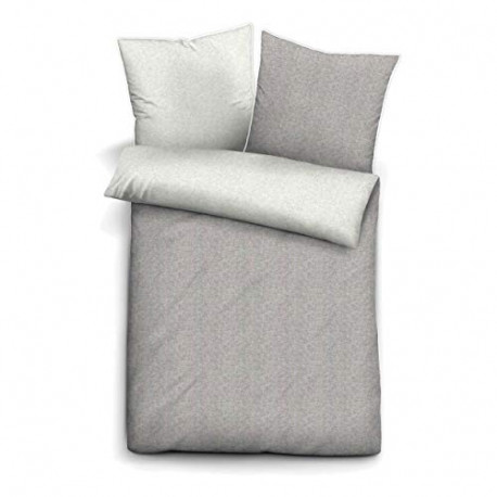 Biberna Melange flannel pillow cover Cushion cover cotton storm gray 80x80cm 0840500/017/010/001