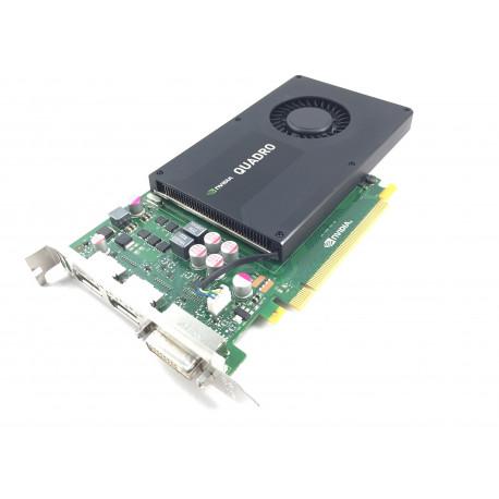 HP Nvidia Quadro K2000 PCI Express X16 2GB GDDR5 SDRAM Graphics Card 766882-001