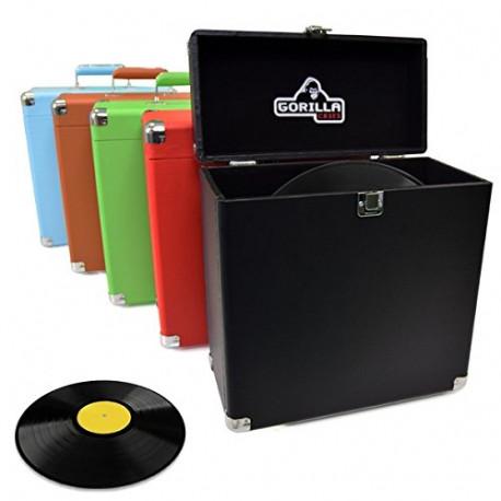 "Gorilla Cases LP-45 Retro Style 12"" Vinyl Record Storage Carry Case (Phone Box Red) ."