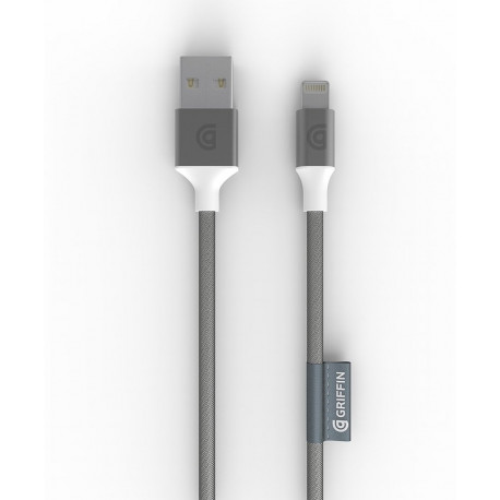 GRIFFIN Premium Lightning Cable 5' Silver GC40902