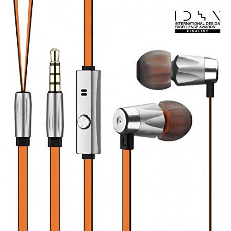 GGMM Alauda Oortelefoon met volumeregeling en ingebouwde microfoon oranje 43028GM71