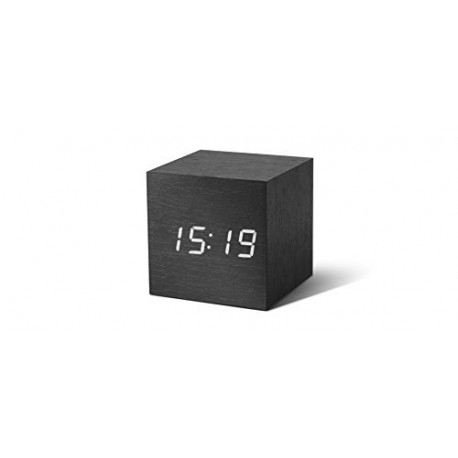Gingko Wekker GK08R4 Gingko Clock Digital Cube White LED Zwart 0635346159190
