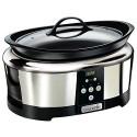 Crock-Pot Next Generation Slow Cooker 5.7 L Silver (220 Volts Not for usa) SCCPBPP605-050