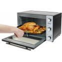 BESTRON 2-IN-1 Mini-oven met rotisserie roestvrij staal zwart AOV45