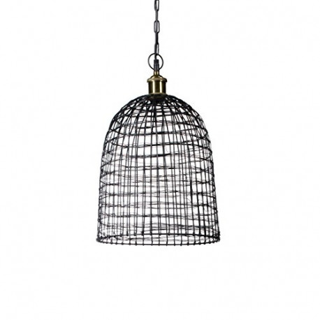 RELAXDAYS Grid Pendant Lamp Made of Metal Cag 10019231