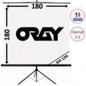 ORAY BYRON2 Portable Screen with Tripod 180 x 180 cm TRE02B1180180