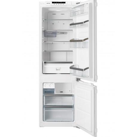 SMEG Ingebouwde koelkast met vriezer met ijsmaker A+ vorstvrij 262 liter CB30PFNF