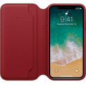 APPLE iPhone x Leather Folio Book Case red MRQD2ZM/A