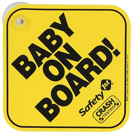 Safety 1st Baby On Board Sign 38000760
