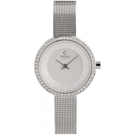 Obaku Denmark silver Watch 27mm V146LCIMC2