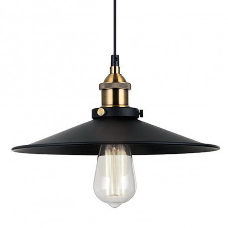 LOMT Black Metal Shade Ceiling Light with a Bronze Vintage Lamp Holder 30-108-200