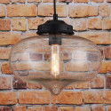 LOMT Vintage Water Drop Glass Shade Hanging Ceiling Light 30-108-226