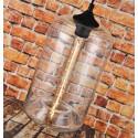 LOMT Glass Vintage Pendant Light Transparent Cylinder 30-108-229B