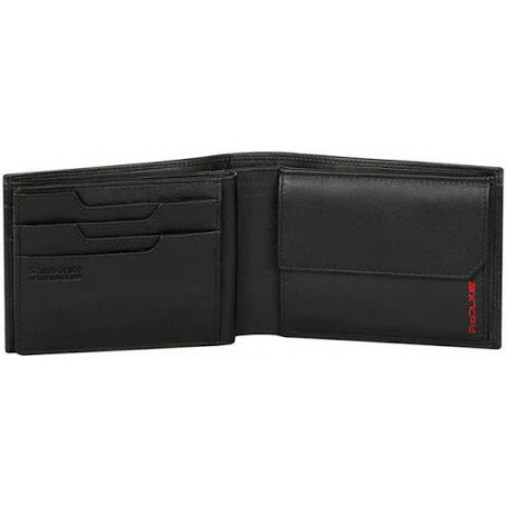 SAMSONITE Wallet Pro-DLX 4S SLG Billfold 8CC Coin Black