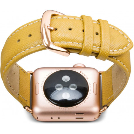 DBramante1928 Watch strap Madrid Apple Watch 38/40MM Leather Yellow