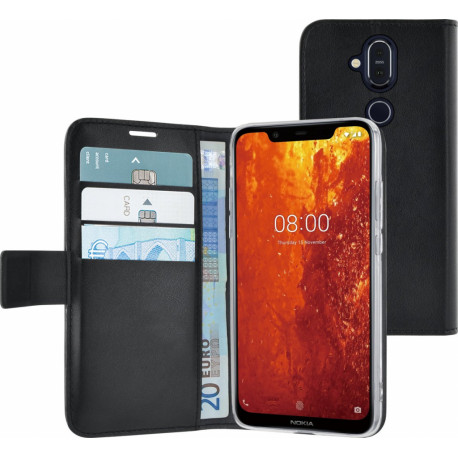 AZURI Wallet Magneet Nokia 8.1 Book Case Black