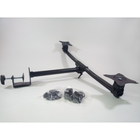 NEWSTAR Dual monitor stand without the base plate Can be mounted on table side NM-D335DBLACK-QPv1