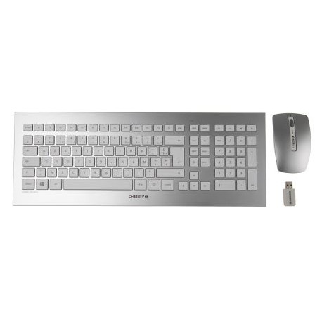 CHERRY French Keyboard Cherry Desktop DW 8000 [azerty FR] Wireless silver/white JD-0310FR