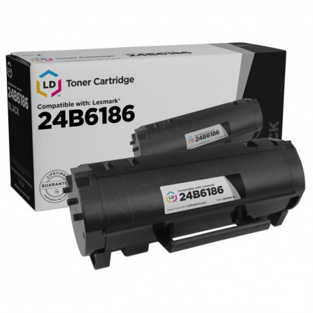 LEXMARK Black Toner Cartridge 24B6186
