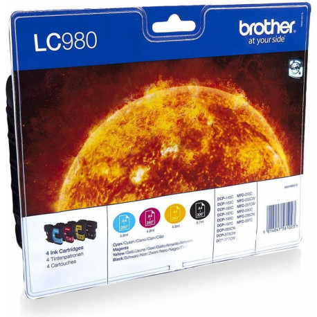 BROTHER cartridge LC-980VALBP Ink cartridges Black Cyan Magenta Yellow LC980VALBP