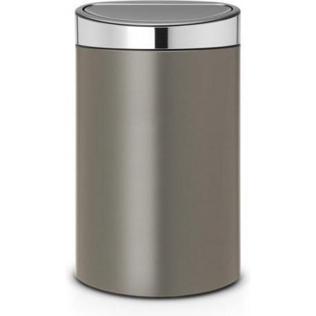 Brabantia Touch afvalemmer 40 liter metallic grijs 114885